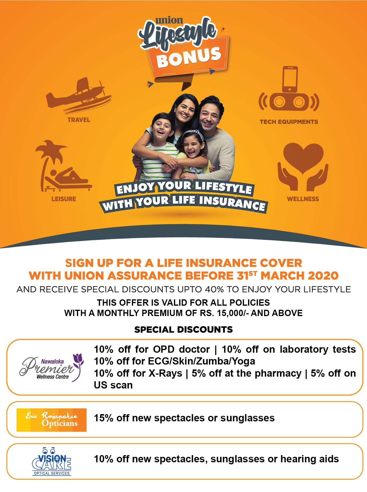 Healthy Living assured with 'Union Lifestyle Bonus' Wellness Promotion