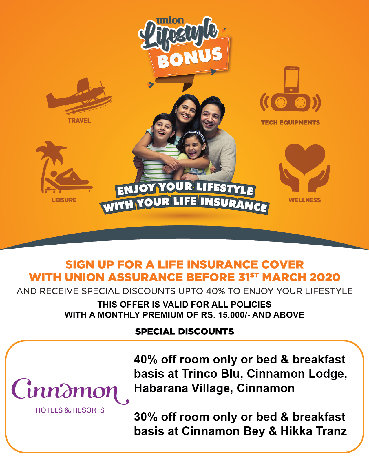 'Union Lifestyle Bonus' Hotel Deals