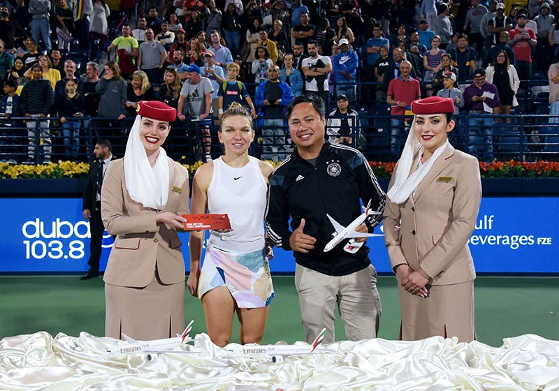 Emirates offers fans memorable experiences during the 2020 DDF Tennis Championships