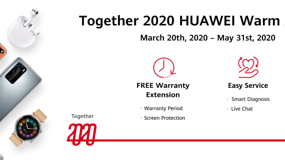 Huawei ''Together 2020 Warm Action'' වැඩසටහන හරහා පාරිභෝගිකයින්ට සහන රැසක්
