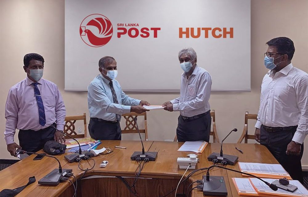 HUTCH together with Department of Posts Sri Lanka extends support during COVID 19