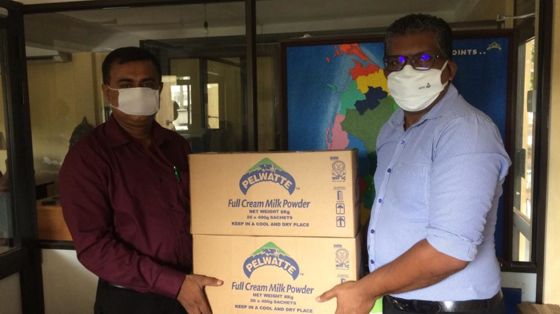 Pelwatte donates milk powder to   'Mithuru Mithuro' organisation