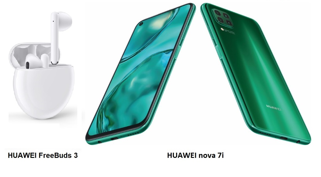 Huawei Nova 7i and Huawei FreeBuds 3 combination offers more space for Entertainment and Productivity