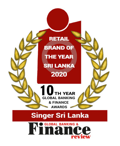 Singer awarded 'Retail Brand of the Year – Sri Lanka 2020' by Global Banking and Finance Review