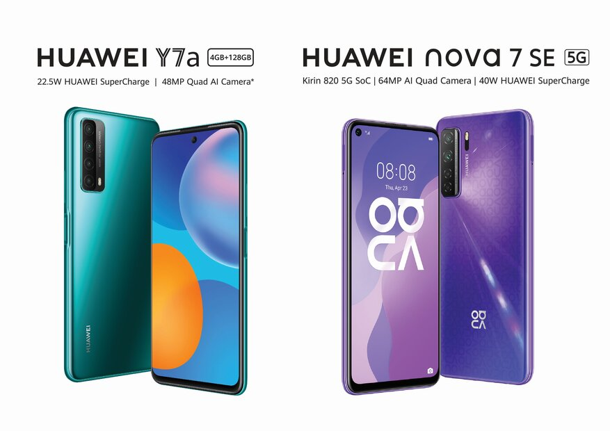 Huawei Nova 7 SE and Huawei Y7a are the mid-range smartphones to watch out for in 2021