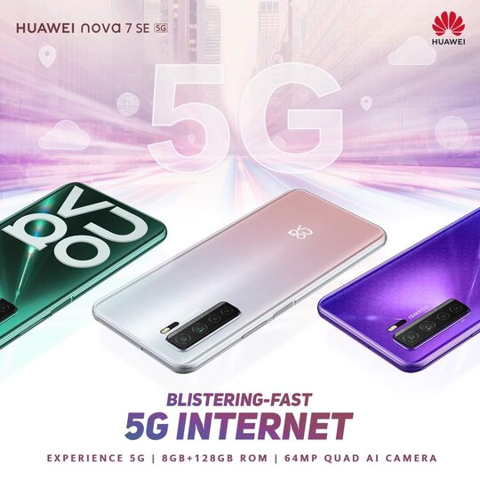 5G powered Huawei Nova 7 SE is the smartphone to own in 2021