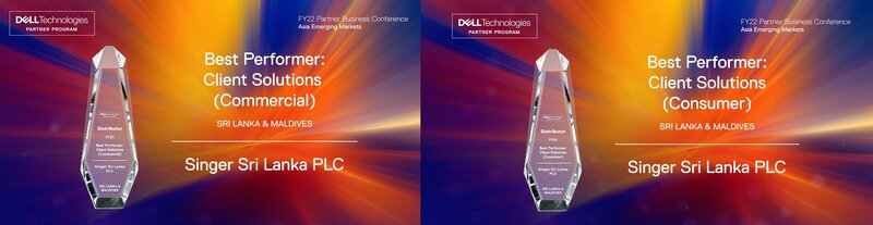 Singer clinches two awards at Dell Partner Business Conference FY22 for Asia Emerging Markets