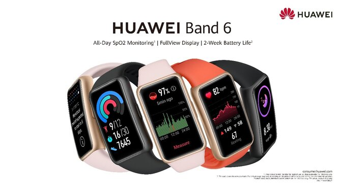 HUAWEI Band 6 Launches, Offering 1.47-inch AMOLED Display with Two-Week Battery Life
